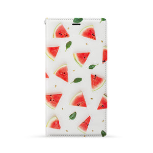 Front Side of Personalized iPhone Wallet Case with Fruit Ninja design