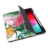 personalized iPad case with pencil holder and Flamingos design