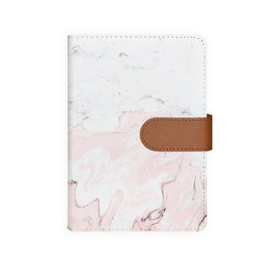 front view of personalized personal organiser with Pink Marble design