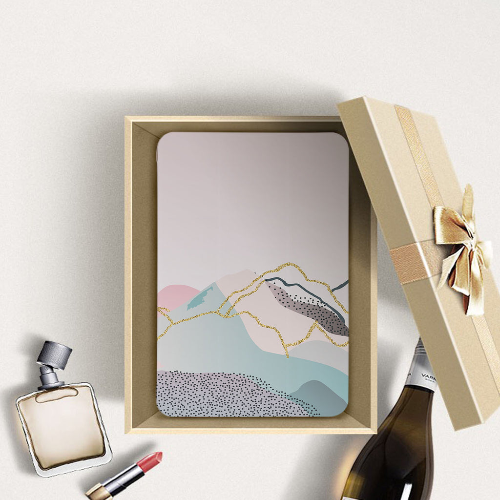 Personalized Samsung Galaxy Tab Case with Marble Art design in a gift box