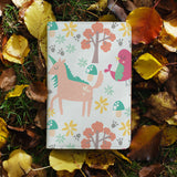 personalized RFID blocking passport travel wallet with Animals 3 design on maple leafs