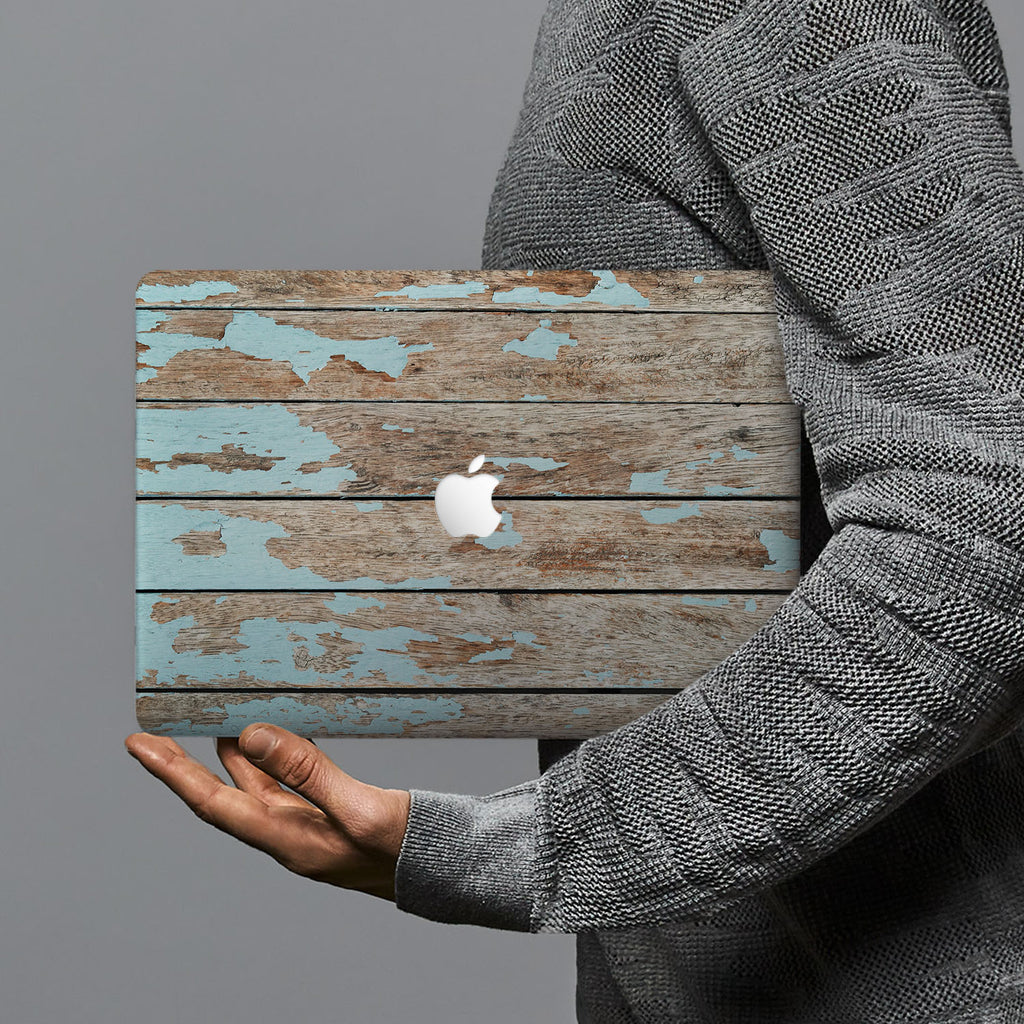 hardshell case with Wood design combines a sleek hardshell design with vibrant colors for stylish protection against scratches, dents, and bumps for your Macbook