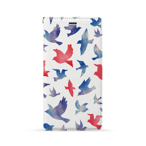 Front Side of Personalized Huawei Wallet Case with Bird design