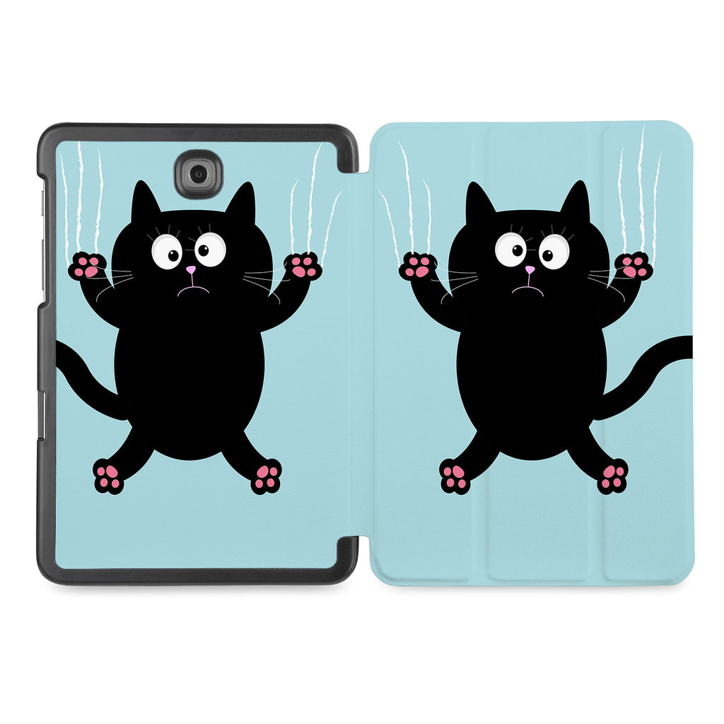 the whole printed area of Personalized Samsung Galaxy Tab Case with Cat Kitty design