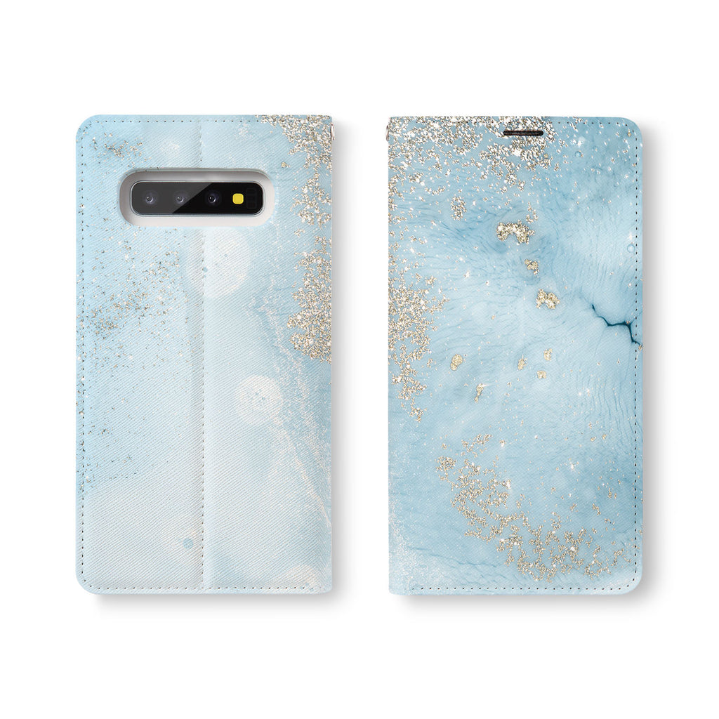 Personalized Samsung Galaxy Wallet Case with Marble Gold desig marries a wallet with an Samsung case, combining two of your must-have items into one brilliant design Wallet Case.