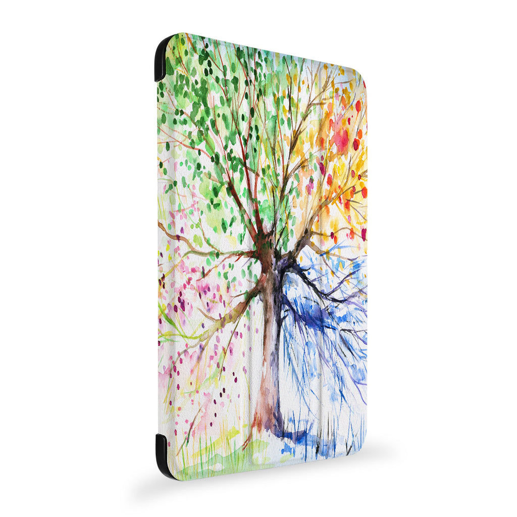 the side view of Personalized Samsung Galaxy Tab Case with Watercolor Flower design
