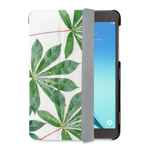 auto on off function of Personalized Samsung Galaxy Tab Case with Flat Flower design - swap