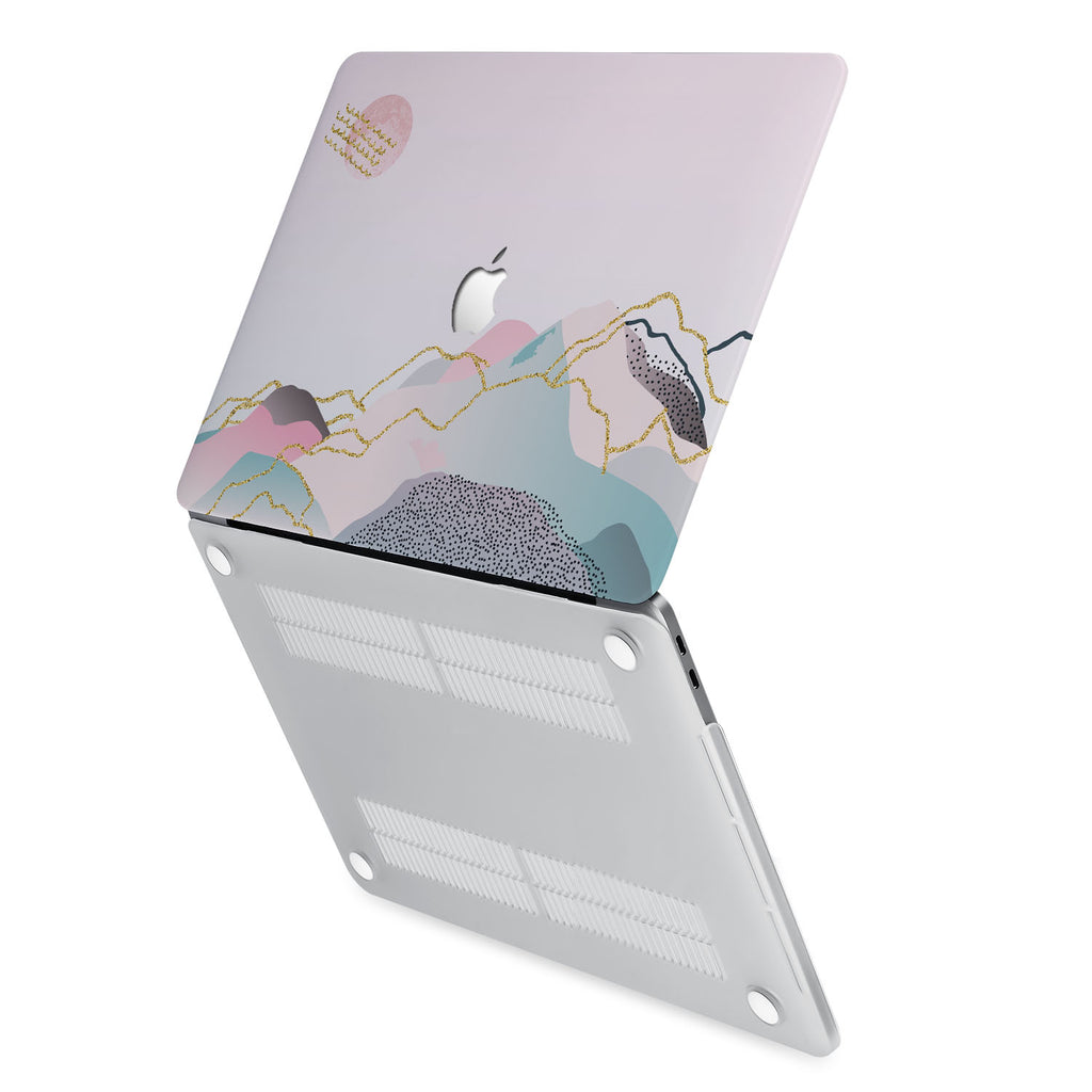 hardshell case with Marble Art design has rubberized feet that keeps your MacBook from sliding on smooth surfaces