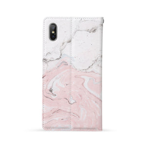 Back Side of Personalized iPhone Wallet Case with Marble design - swap
