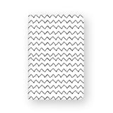 front view of personalized RFID blocking passport travel wallet with Black Seamless Patterns design