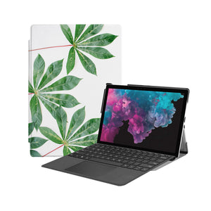 the Hero Image of Personalized Microsoft Surface Pro and Go Case with Flat Flower design