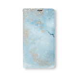 Front Side of Personalized Samsung Galaxy Wallet Case with Marble Gold design