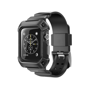 Rugged Armor Case Band for Apple Watch - Black
