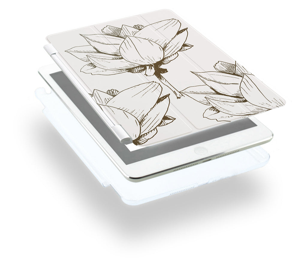 how to use ipad smart cover with personalized iPad case smart cover with Bloom Flourish design