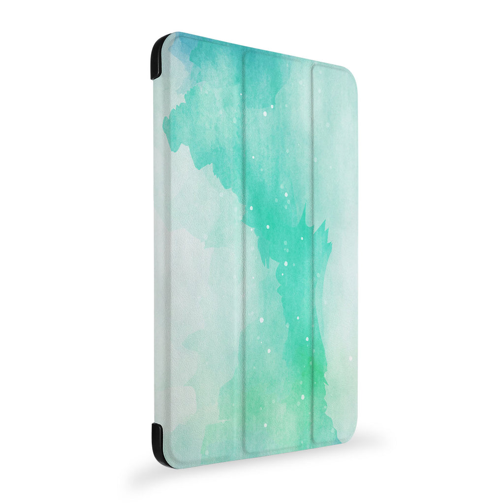 the side view of Personalized Samsung Galaxy Tab Case with Abstract Watercolor Splash design