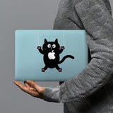 hardshell case with Cat Kitty design combines a sleek hardshell design with vibrant colors for stylish protection against scratches, dents, and bumps for your Macbook