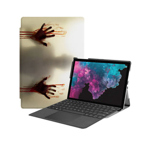 the Hero Image of Personalized Microsoft Surface Pro and Go Case with Horror design