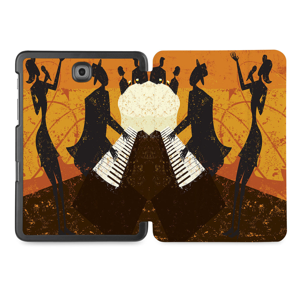 the whole printed area of Personalized Samsung Galaxy Tab Case with Music design