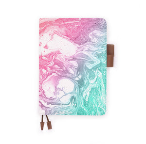 the front view of papermarker's diary with Abstract Oil Painting pattern