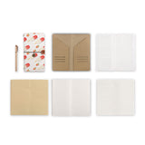 midori style traveler's notebook with Sweet design, refills and accessories