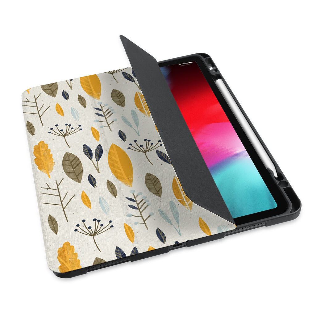 personalized iPad case with pencil holder and Mediterranean design