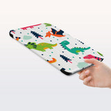 a hand is holding the Personalized Samsung Galaxy Tab Case with Dinosaur design