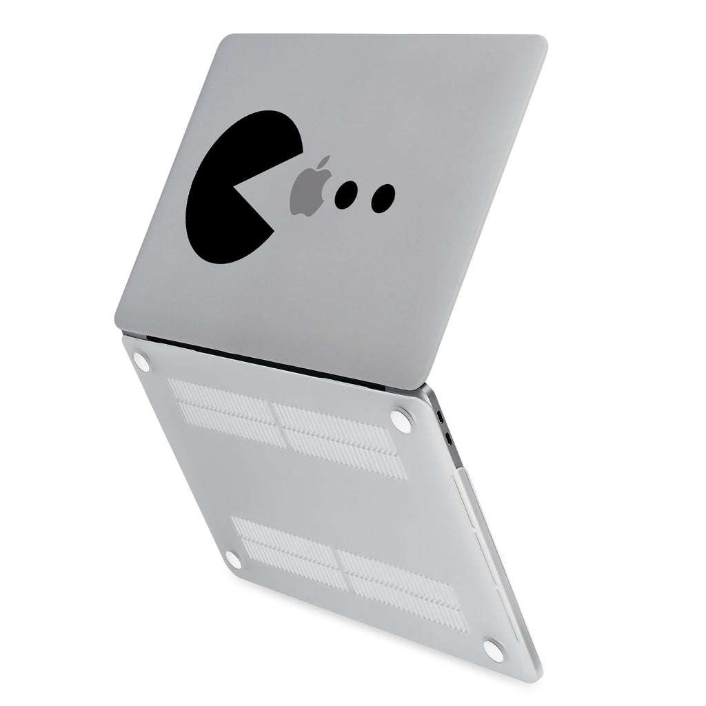 hardshell case with Retro Arcade design has rubberized feet that keeps your MacBook from sliding on smooth surfaces