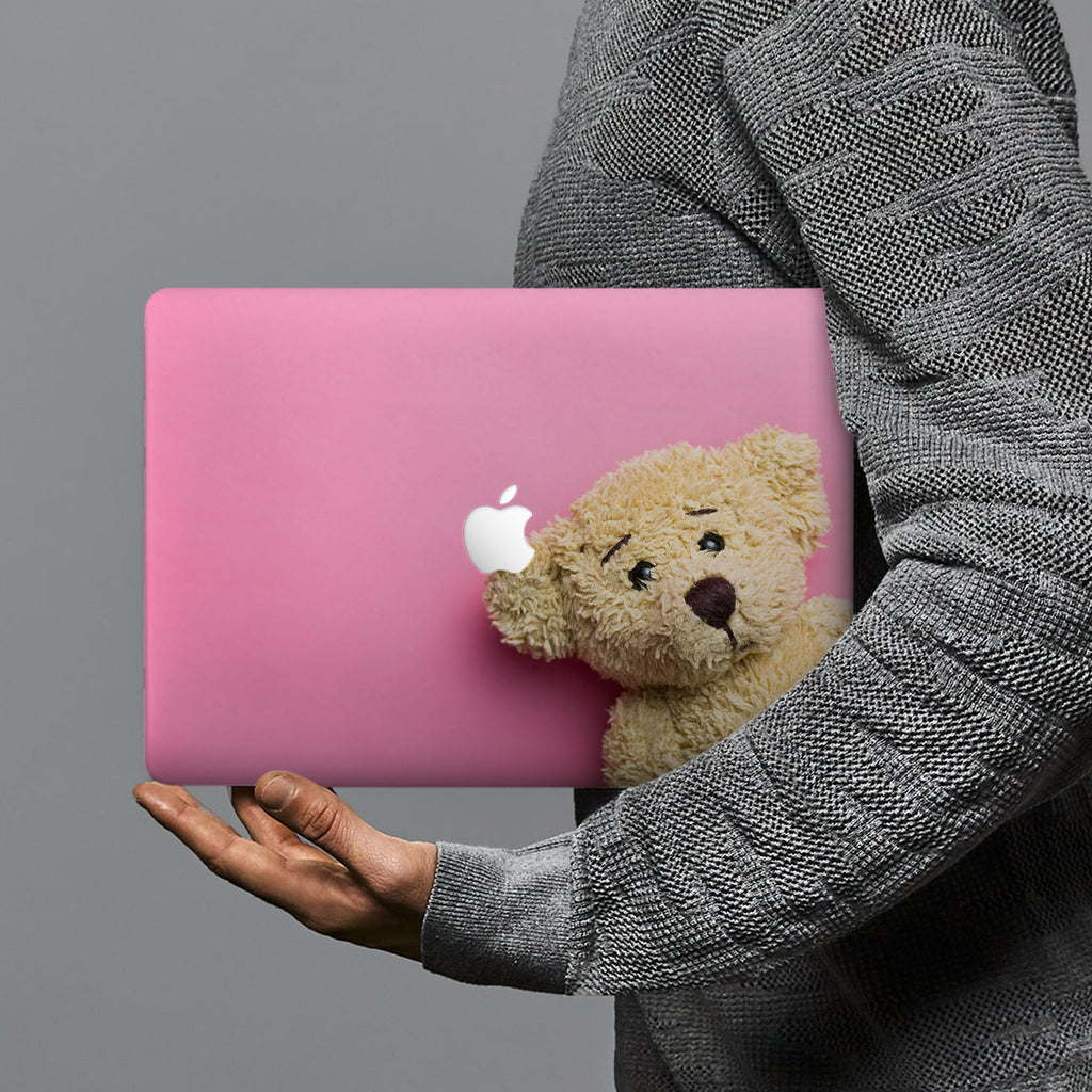 hardshell case with Bear design combines a sleek hardshell design with vibrant colors for stylish protection against scratches, dents, and bumps for your Macbook