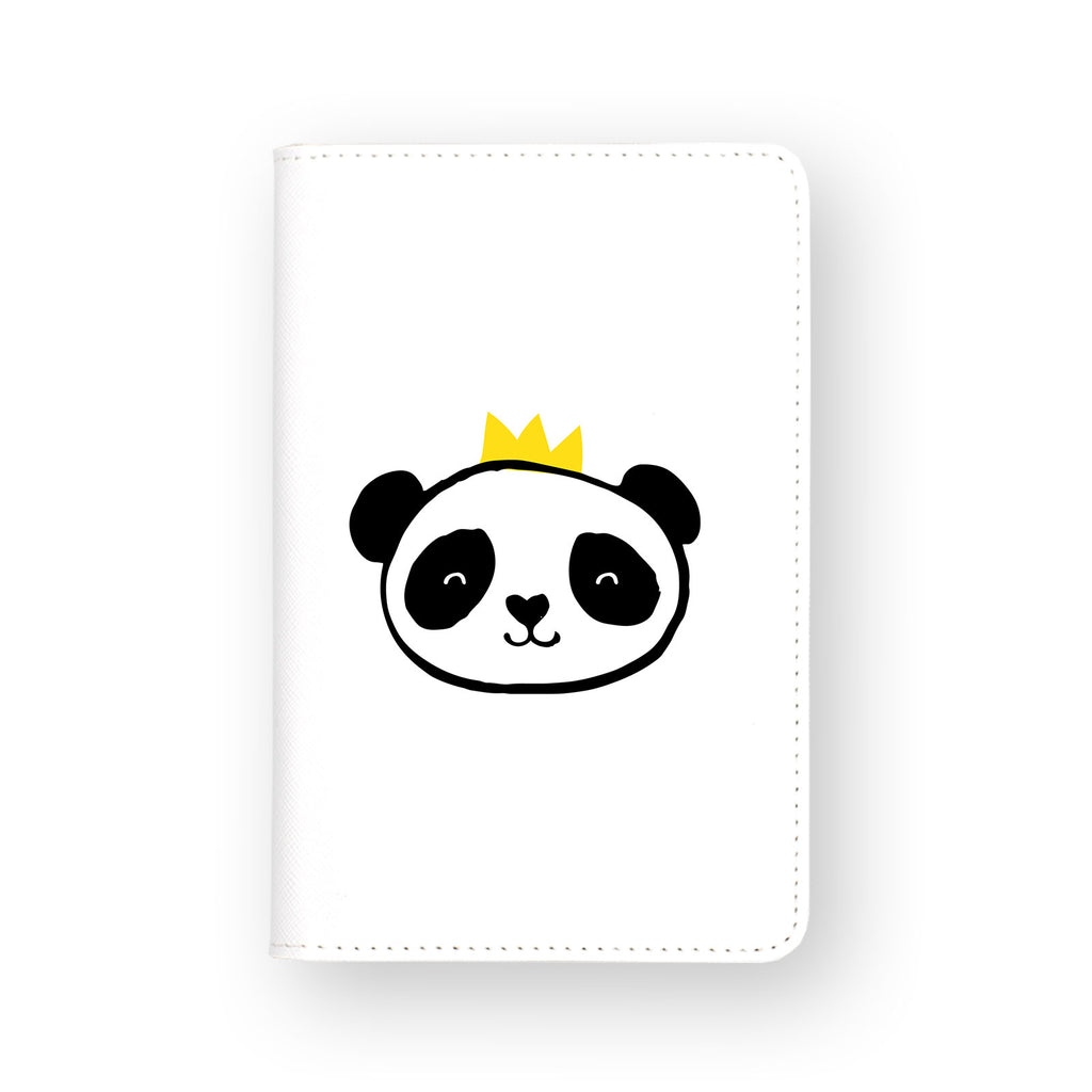 front view of personalized RFID blocking passport travel wallet with Doodle design