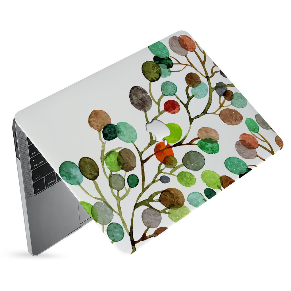 hardshell case with Leaves design has matte finish resists scratches