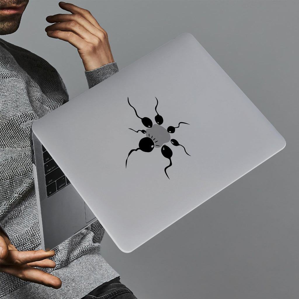 hardshell case with AppleLogoFun design holds up to scratches, punctures, and dents