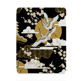 front view of personalized iPad case with pencil holder and Japanese design