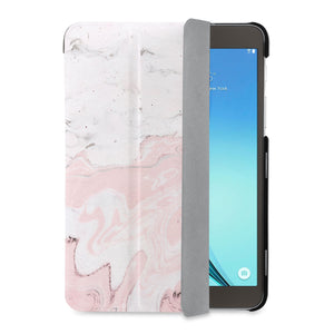 auto on off function of Personalized Samsung Galaxy Tab Case with Pink Marble design - swap