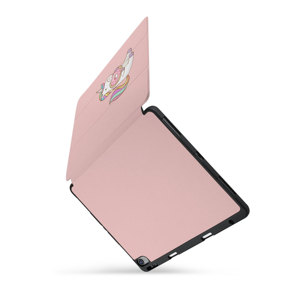 personalized iPad case with pencil holder and Unicorn design