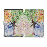 the whole front and back view of personalized kindle case paperwhite case with Watercolor Flower design