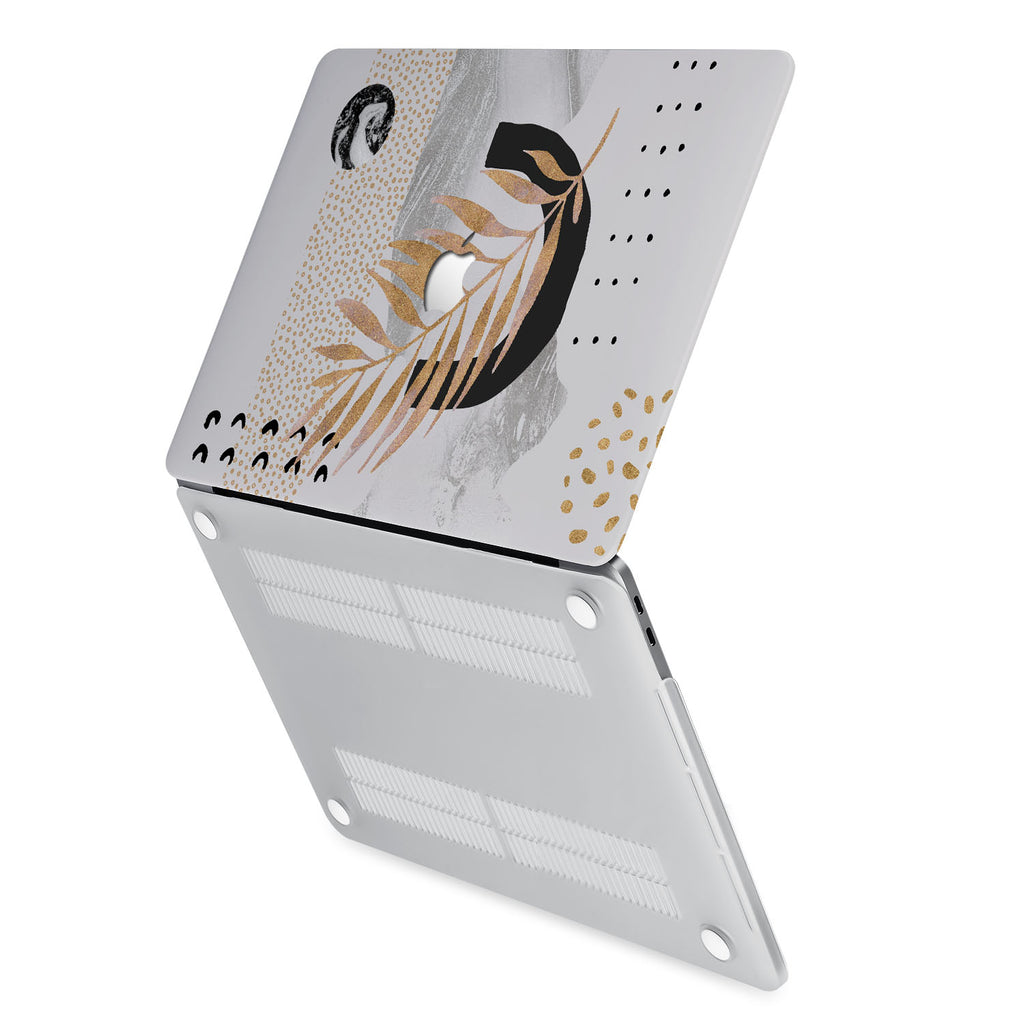 hardshell case with Marble Flower design has rubberized feet that keeps your MacBook from sliding on smooth surfaces