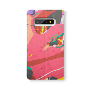 Back Side of Personalized Samsung Galaxy Wallet Case with Abstract1 design - swap