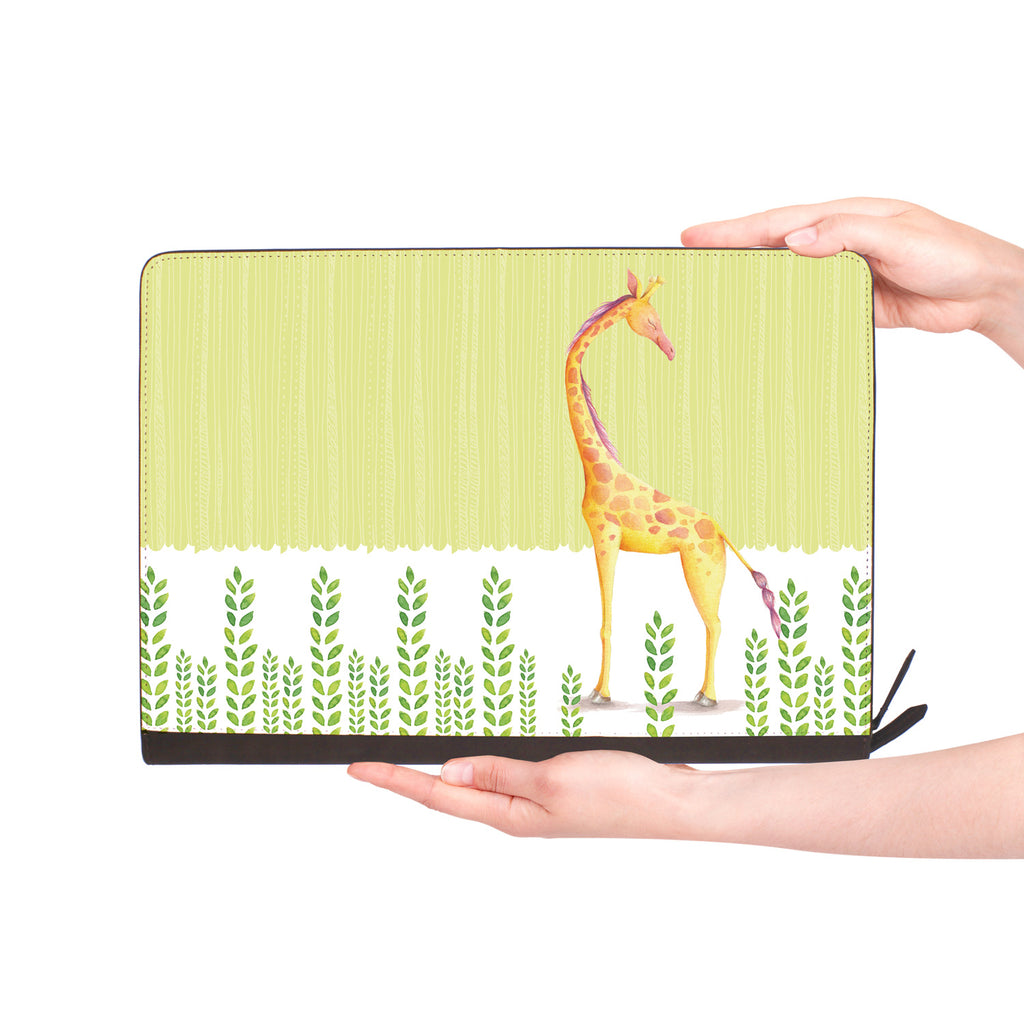 macbook air inside of personalized Macbook carry bag case with Cute Animal 2 design