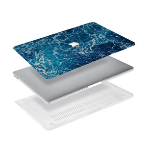 Ultra-thin and lightweight two-piece hardshell case with Ocean design is easy to apply and remove - swap