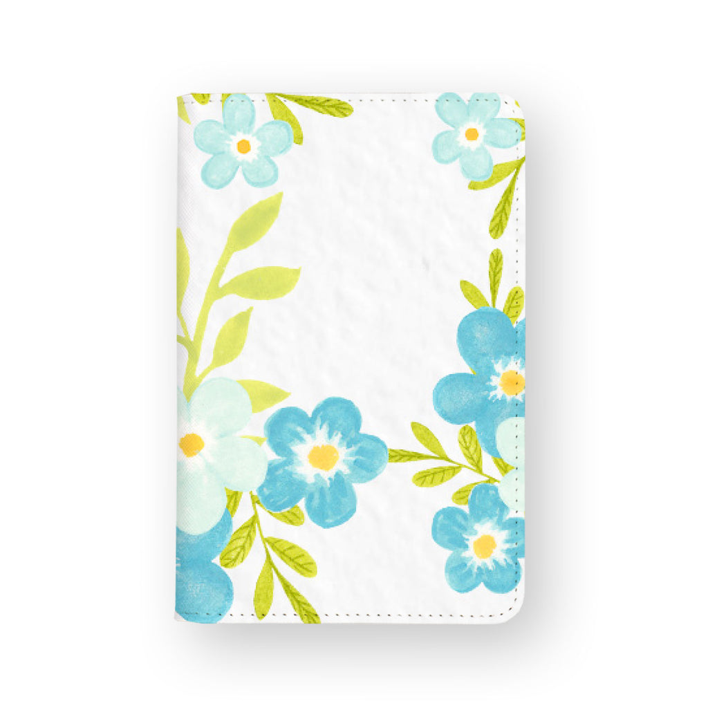 front view of personalized RFID blocking passport travel wallet with Charm Floral design
