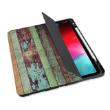 personalized iPad case with pencil holder and Wood design