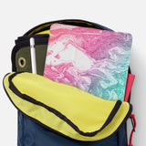 iPad SeeThru Casd with Abstract Oil Painting Design has Secure closure