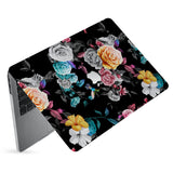 hardshell case with Black Flower design has matte finish resists scratches