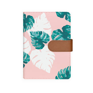 front view of personalized personal organiser with Pink Flower 2 design