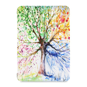 the front view of Personalized Samsung Galaxy Tab Case with Watercolor Flower design