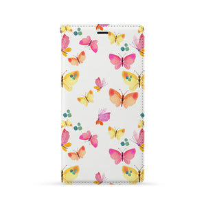 Front Side of Personalized iPhone Wallet Case with Butterfly design