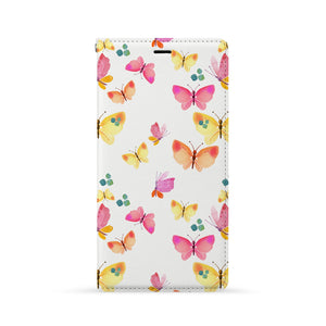 Front Side of Personalized Huawei Wallet Case with Butterfly design