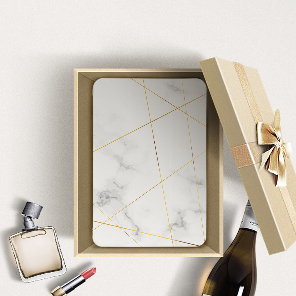 Personalized Samsung Galaxy Tab Case with Marble 2020 design in a gift box