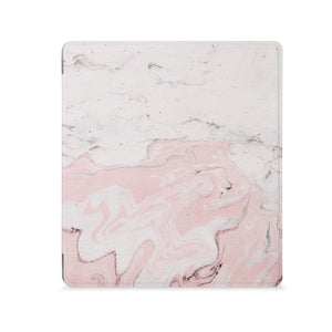 the Front View of Personalized Kindle Oasis Case with Pink Marble design - swap