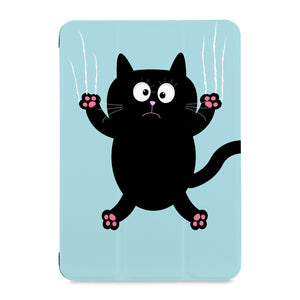 the front view of Personalized Samsung Galaxy Tab Case with Cat Kitty design